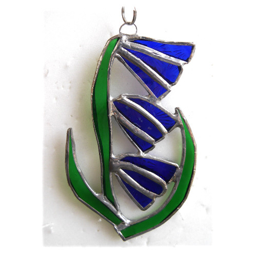 Bluebell Suncatcher Stained Glass Flower