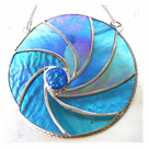 Ripwave Stained Glass Suncatcher Handmade Sea 005