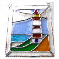 Lighthouse Suncatcher Stained Glass Picture 014