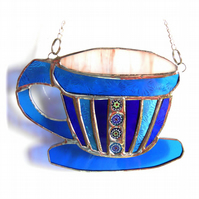 Teacup Stained Glass Suncatcher coffee cup mug 011