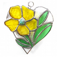Primrose Heart Suncatcher Stained Glass 007