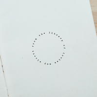 Personalised From the Library of Circle Stamp