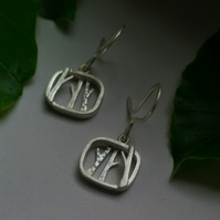 Into the woods sterling silver earrings