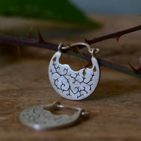 Into the brambles sterling silver earrings