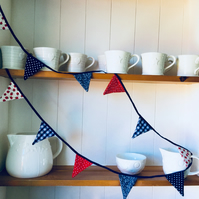 Red, white and blue tiny bunting