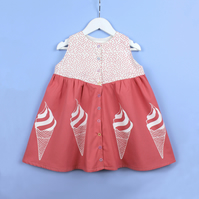 Girl's Ice Cream Dress