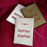 Knitting Notebook and Cover