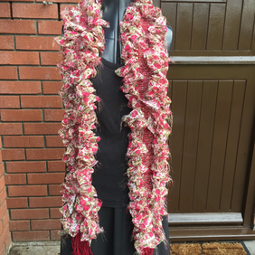 Chiffon and Wool, Handwoven Boa Scarf