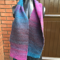 Mohair and Wool Mix Scarf -Sunset