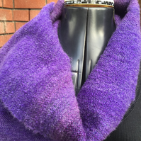 Mohair and Wool Mix Scarf - Midnight