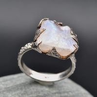 Moonstone Rough Cut Ring. US 9 or UK T