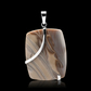 Cappuccino Flint and Sterling Sliver 925 PENDANT Unique & Handmade