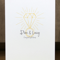 Personalised Diamond Engagement Card