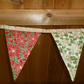 Christmas Buntin - Red and Gold Ponsettias - Retro Style