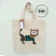 Cotton Tote Bag Miss Bella Illustration