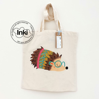 Cotton Tote Bag - Heather the Hedgehog Illustration