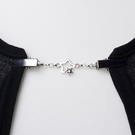 Star cardigan clip - Silver double star sweater guard - pashmina pin clasp