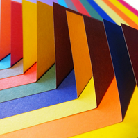 Origami Paper - 100 sheets, 15cm Square - Contrasting Colour Collection