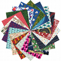 Origami Paper Christmas Gift Set - 200 Sheets, 15cm Square - Xmas Collection