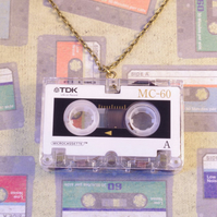 Cassette Tape Necklace -Retro Jewellery - Cassette Jewellery - Music Inspired