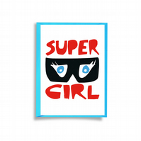 Super Hero Greeting Card - Girl