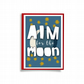 Aim For The Moon Greeting Card