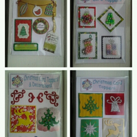 Christmas Card Toppers, Embellishments