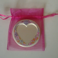 Heart Compact size Mirror