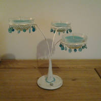 Vintage Style Candelabra with Scented Candles