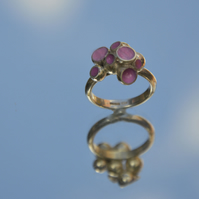 Sterling silver ring filled with delicious candy pink cold enamel.