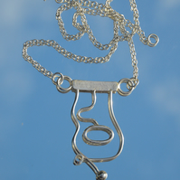 Sterling silver abstract necklace