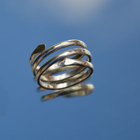 Sterling silver adjustable wrap ring.
