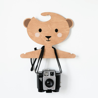 Honey the Bear -  Wooden Kids Clothes And Coat Hanger