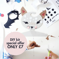 Decorate you own cardboard clothes hanger kit