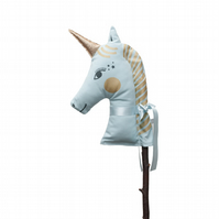 Beautiful Blue and gold sparkly Unicorn Hobby Horse