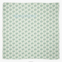 Nautilus shell pattern square scarf  hijab sarong cover up in mint aqua