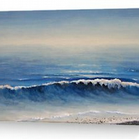 Evening surf blank card
