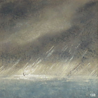 Sailing in the storm an original painting