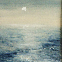 Original painting ocean sparkles beach coastal original acrylic painting winter
