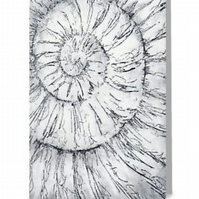 Blank notelet greeting card ammonite no.16