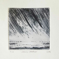 Heavy weather I an original drypoint etching print