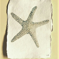Starfish original watercolour illustration painting seaside style