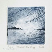 Coastal etching print across the bay no.6 of 65 original etching limited edition