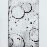 Original etching print bubbles no.4 of 65 limted edition