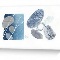 Ebb and flow II an abstract pebble inspired blank greeting card