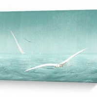 Skimming the breeze sailing blank card