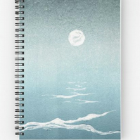 Mangata moon over the ocean 6x8inch spiral notebook