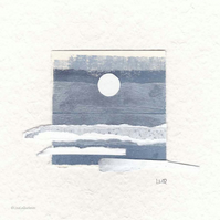 Collage No.14 original minimalist abstract coastal inspired collage