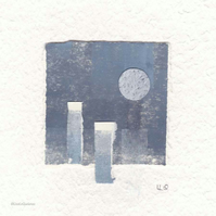Coastal inspired original abstract minimalist paper collage no.15