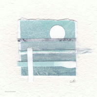 Original coastal inspired abstract minimalist collage no.19